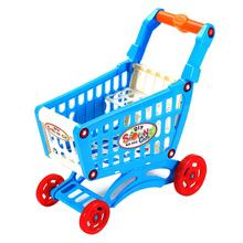 Simulation Supermarket Shopping Cart Pretend Play Toy Mini Plastic Trolley Play Toy Gift for Children Play Role in Pretend Game(China)