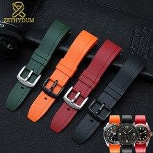 Fluororubber 시계 스트랩 실리콘 고무 팔찌 퀵 릴리스 바 20mm 22mm 24m 시계 밴드 화웨이 시계 브랜드 시계 밴드