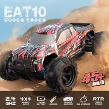 Eachine EAT10 RC samochód 1:18 bezszczotkowy ciężarówka 4WD High Speed 42 Km/h wszystkie tereny elektryczny Off Road Monster Model pojazdu Crawler