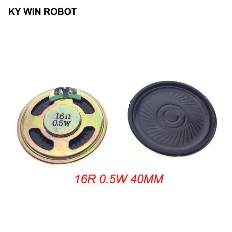 2pcs/lot New Ultra-thin Mini Speaker 16 Ohms 0.5 Watt 0.5W 16R Speaker Diameter 40MM 4CM Thickness 5MM