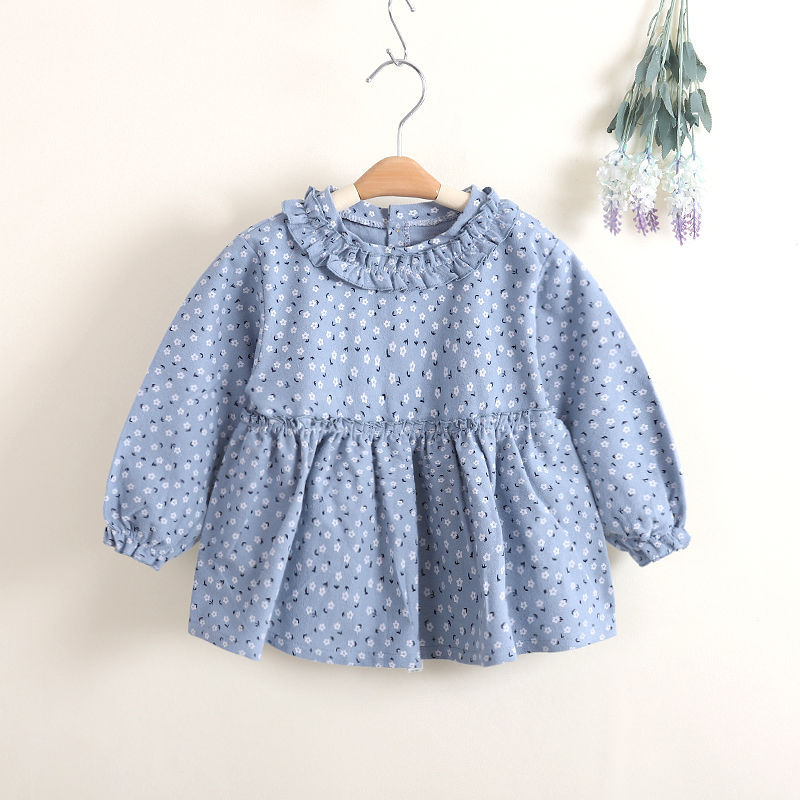 Dress Children Women's Autumn And Winter Anti-Overclothes Baby Protective Clothing Princess Dress Eating Clothes Cotton/Cotton B