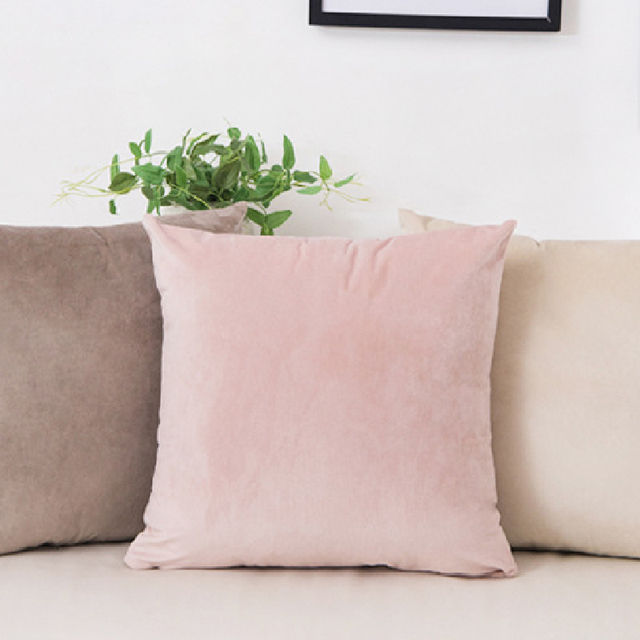 Solid Color Velvet Cushion Cover 5