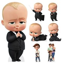 The Baby Boss Iron-On Transfers Sticker Boy & Girl T-shirt Patches Iron On Heat Print-On Kid Clothes Gift Patch Decor