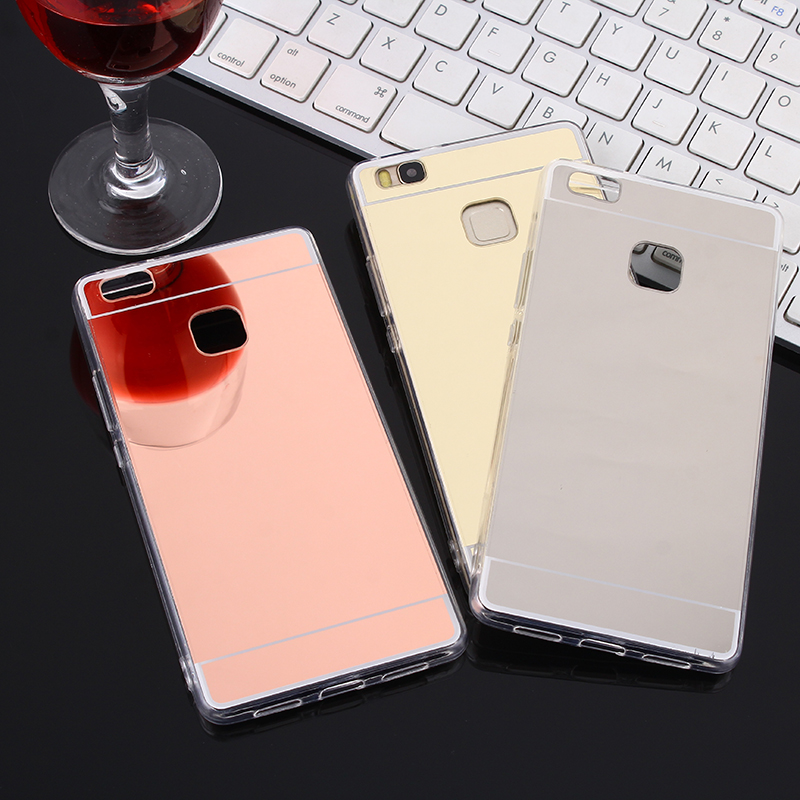 Electroplate Mirror <font><b>Case</b></font> for <font><b>Huawei</b></font> P30 <font><b>P20</b></font> <font><b>Lite</b></font> <font><b>Mate</b></font> 20 Pro Nova 3 3i Honor 8 9 10 <font><b>Lite</b></font> 8X 8C PLAY Soft TPU Silicone Cover image