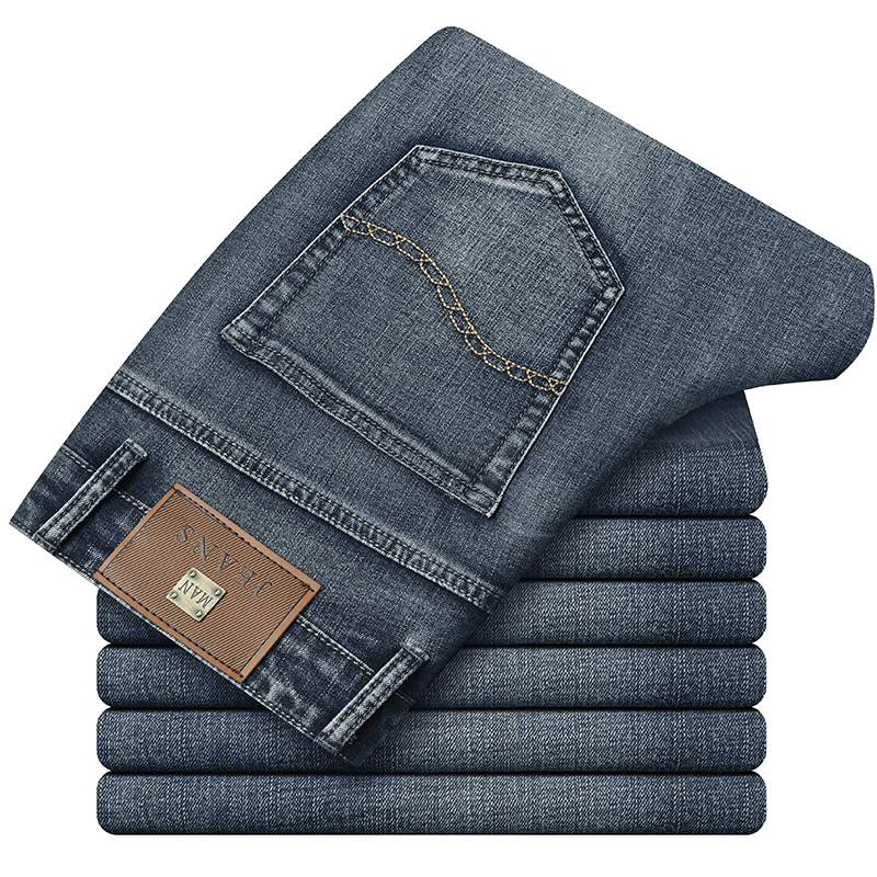 Autumn  New Men's Jeans High Quality Cotton Stretch Thick Denim Pants Male Brand Trousers