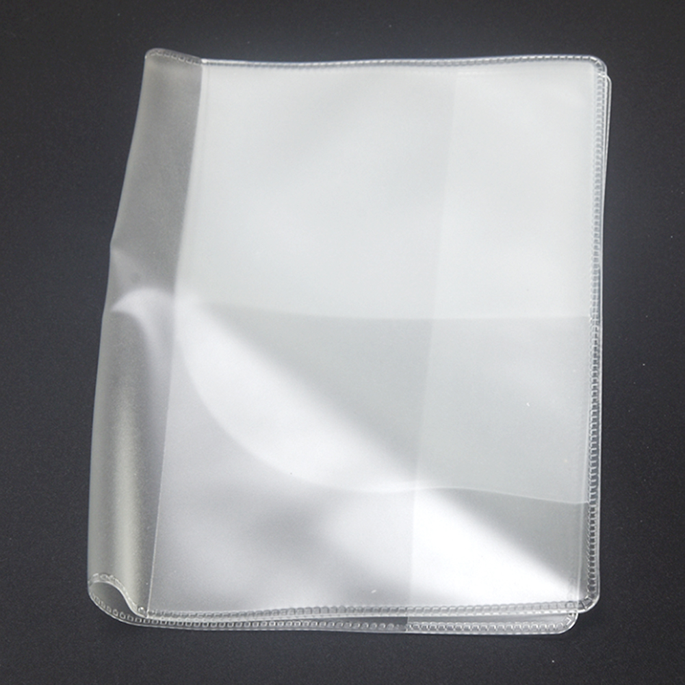 13.5*19cm PVC Transparent Card Bag Dull Polish Passport Cover Clear Card ID Cover Case For Travelling Passport Bags #20