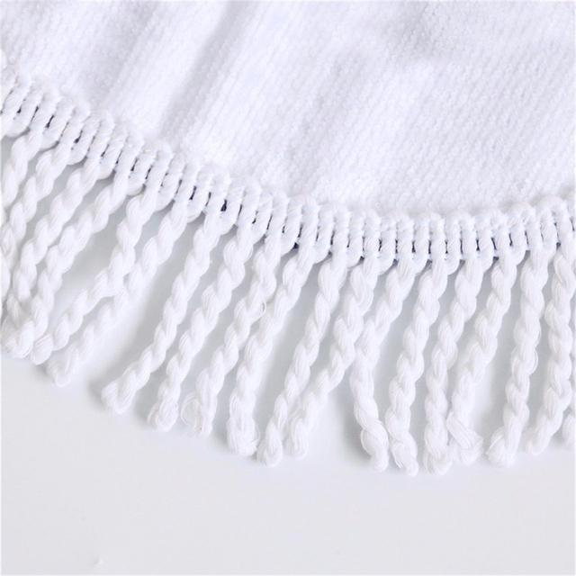 FEATHER SKULL ROUND BEACH TOWEL (4 VARIAN)