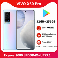 Original vivo X60 Pro Dual 5G SmartPhone 3D Flexible AMOLED 120Hz Screen 33W Flash Charger CPU Exynos 1080 NFC Cellphone 1