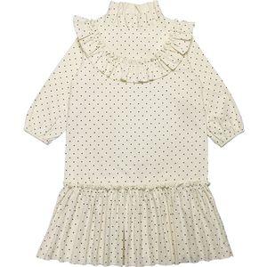 Image 3 - Nowy 2020 dziecko księżniczka sukienka nastoletnia sukienka na jesień dzieci śliczna sukienka sukienka dla dziewczynek wypoczynek maluch sukienka w kropki bawełna, #5092
