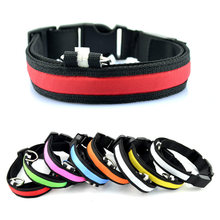 High Quality Dog Cat Nylon Reflective Collars Glow Flashing Light Up LED Collar USB Charge Luminous Puppy Collars Pet Supplies(China)