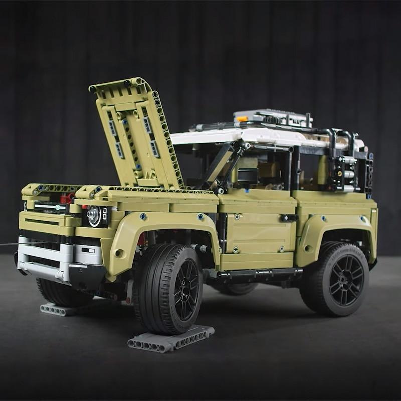 Image 4 - Technic игрушечный автомобиль, совместимый с Legoinglys 42110 Land Rover Defender, набор, Сборная модель автомобиля, строительные блоки, кирпичи, рождественский подарок, игрушка-in Блоки from Игрушки и хобби on AliExpress