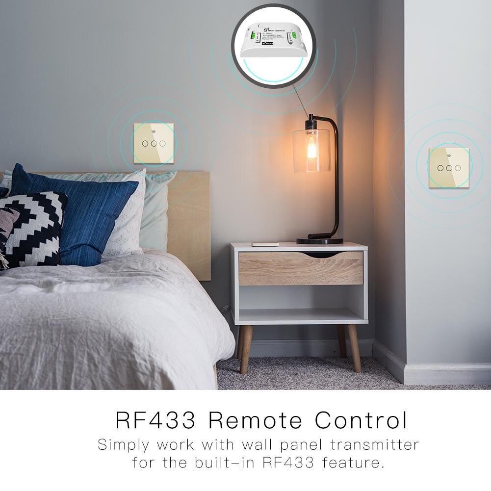 tuya controle remoto único trabalho fogo com alexa rf433