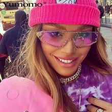 ريهانا موضة حماية العين النظارات الشمسية النساء غير النظامية مرآة الوردي عدسة برشام نظارات Sunglass مكبرة للنساء الرجال UV400