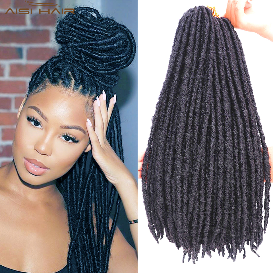 Dreadlocks Crochet Braids Jumbo Dread Hairstyle Ombre Color Synthetic Faux Locs Braiding Hair Extensions For Women  African