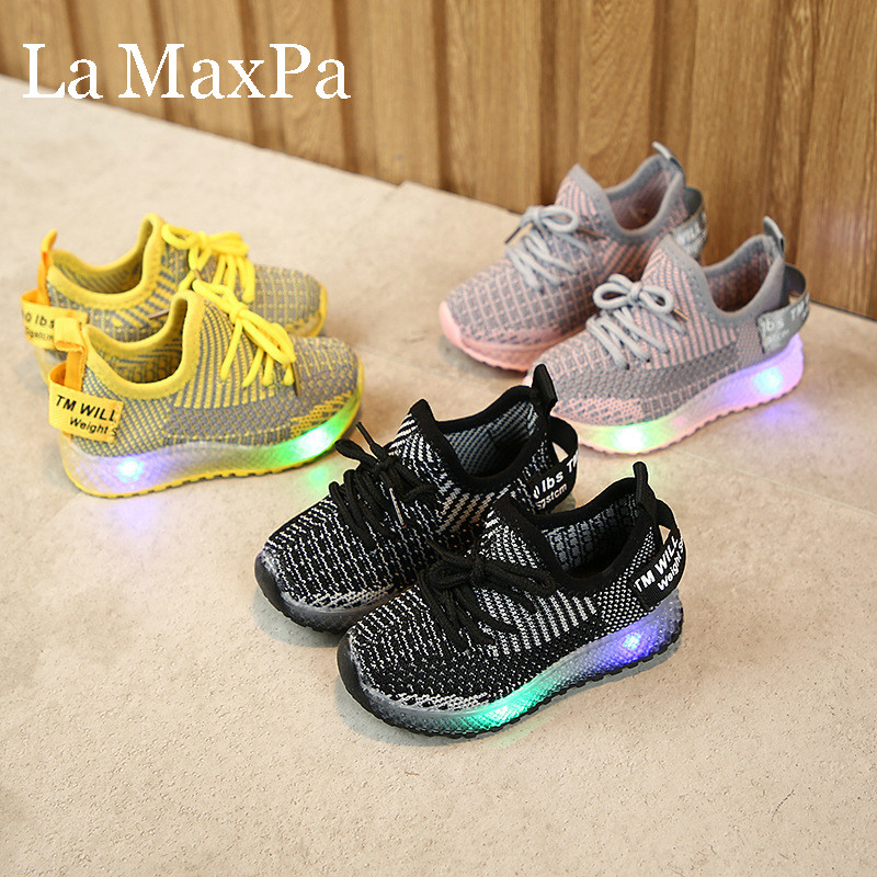 2020 New Arrival Children Shoes For Boys Luminous Sneakers Tenis Menina Infantil Children Shoes With Light Sneakers Glowing