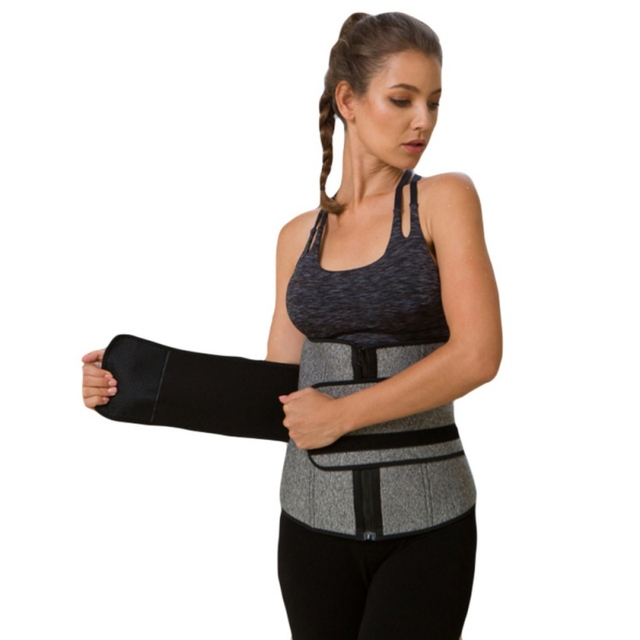 Waist Trainer Belt Reduce Belly Body Slimming Shapers 9 Cincher Corset Sweat abdomen fitness double layer pressure belt