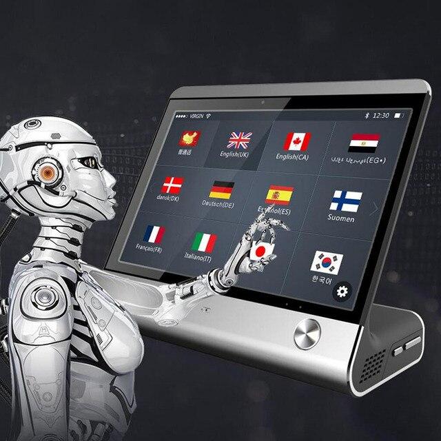 8 pouces haut de gamme AI commercial intelligent traducteur de voix instantanée en temps réel traducteur de langues vocales OTA mise à niveau hôtel salle de réunion