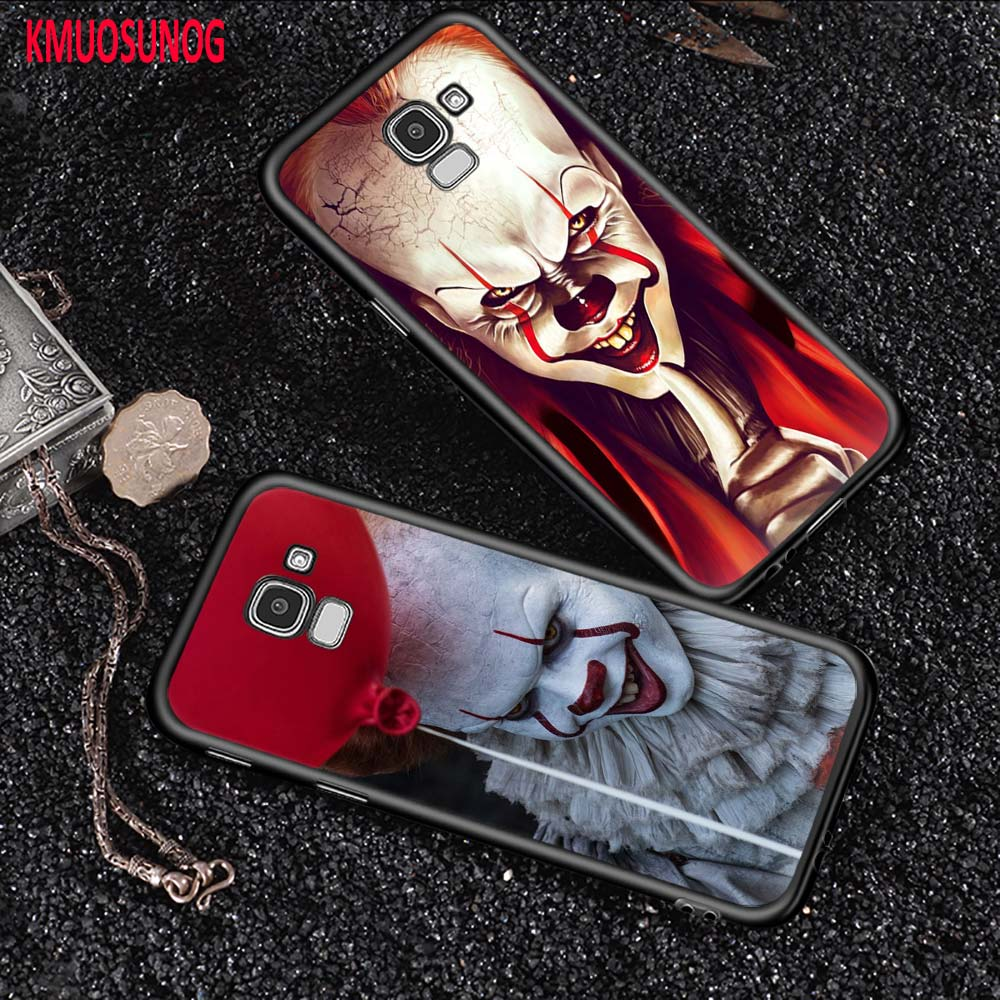 Black Silicone Cover Pennywise Clown for Samsung Galaxy J2 J3 J4 J5 J6 J7 Plus Core 2018 2017 2016 Phone Case image