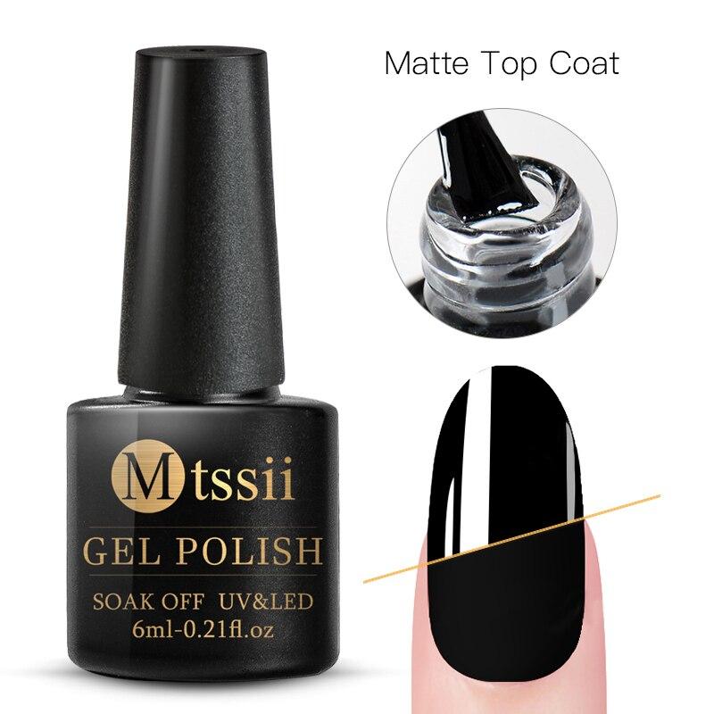 Mtssii  6ml Nail Gel Eggshell Gel Nail Polish Transparent Gel Soak Off Nail Art Gel  UV LED Varnish With Any Color Base Top Coat 31