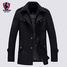 Winter trench coat for men fashion mens jackets version of w