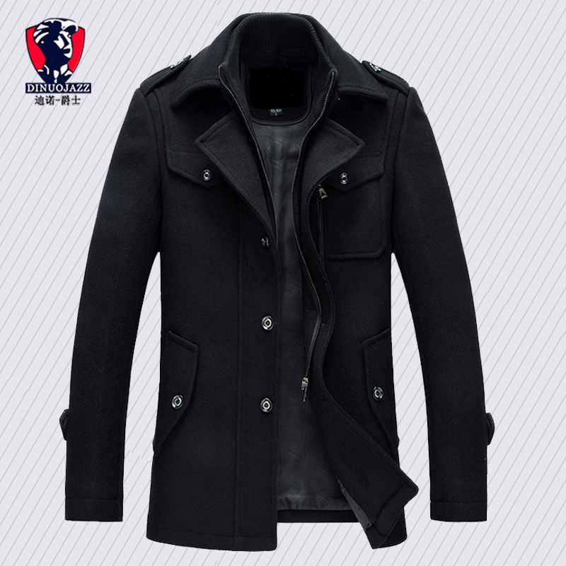 Winter Trench Coat For Men Fashion Mens Jackets Version Of Woolen Men's Jacket Double Collarwarm Woolen Coat PP255100
