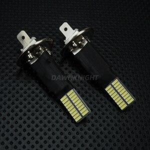 Image 3 - 2PCS H1 H3หลอดไฟLed 4014 36SMD 6000Kสีขาวรถหมอกไฟขับรถวิ่งโคมไฟ12V H1 h3 Ledเปลี่ยนหลอดไฟ