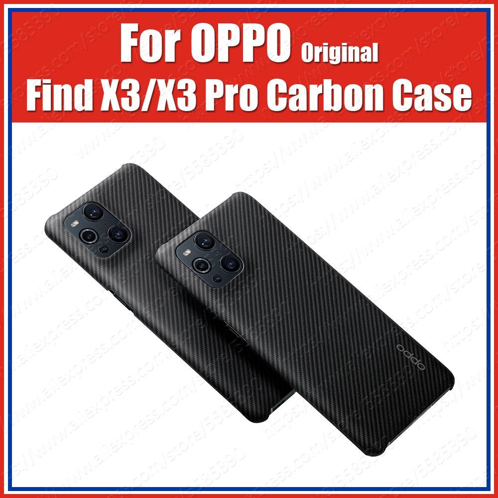 CPH2173 Ультратонкий 0,7 мм арамидное волокно оригинальный OPPO Find X3 Pro Чехол из углеродного кевлара Find X3 глянцевая и стеклянная версия