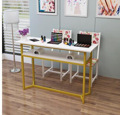 Стол для маникюра, одиночный двойной стол для маникюра, специальная цена, экономичный простой современный стол для маникюра и стула - Цвет: 80CM
