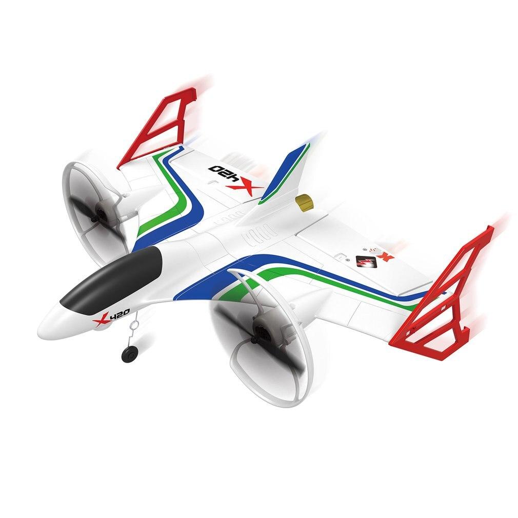 X420 aeroplano RC 6CH 3D/6G avión Vertical sin escobillas EPP deslizador de espuma para despegue y aterrizaje truco RC Drone 050 Motor RC avión-in Aviones RC from Juguetes y pasatiempos    1