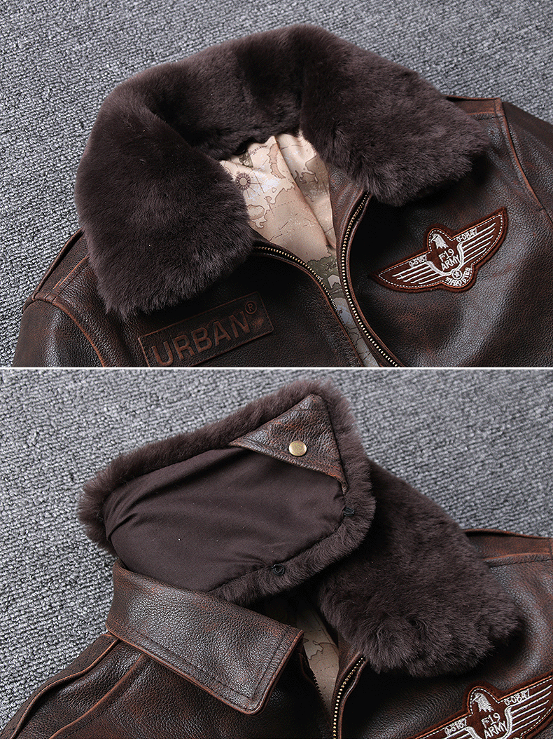 Hf1cb82b382cc434980b9f28322cbf687X 2019 Vintage Men's G1 Air Force Pilot Jackets Genuine Leather Cowhide Jacket Plus Size 5XL Fur Collar Winter Coat for Male