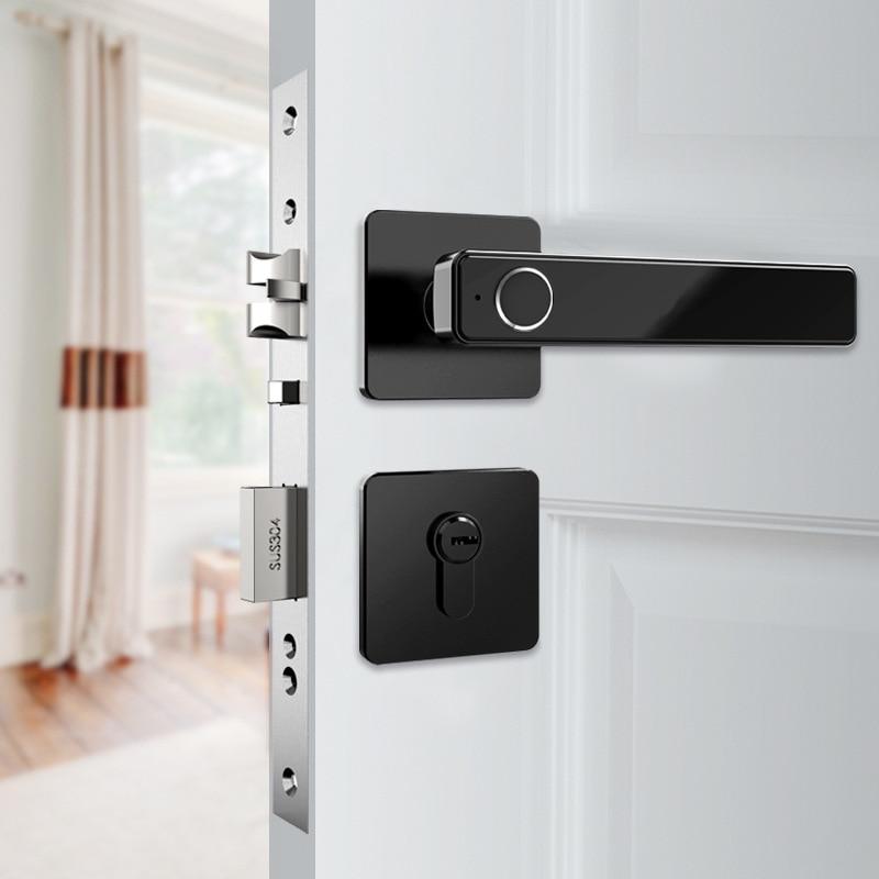 Biometric Fingerprint Lock Smart Keyless Electronic Door Lock Unlock By Fingerprint And Key
