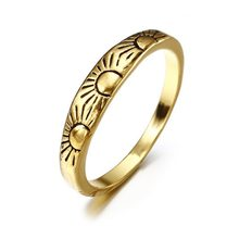 European and American Style 14K Gold Little Sun Ladies Engagement Ring Creative Fashion Jewelry(China)