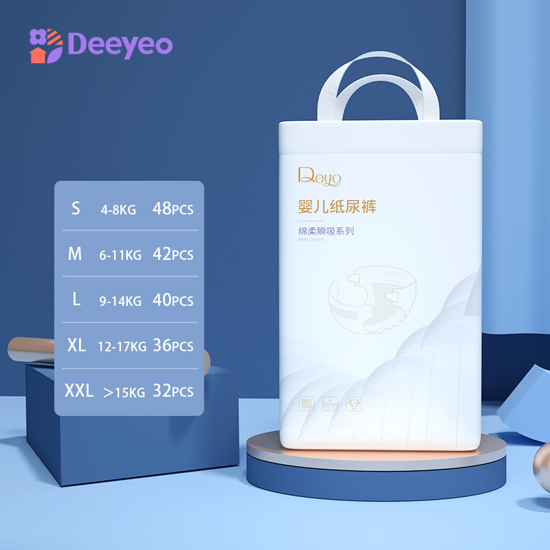 Deyo Baby Diaper Disposable Ultra Thin Breathable Waterproof Fabric Underwear Tape Diapers for 0-3 Years Old Dropshipping