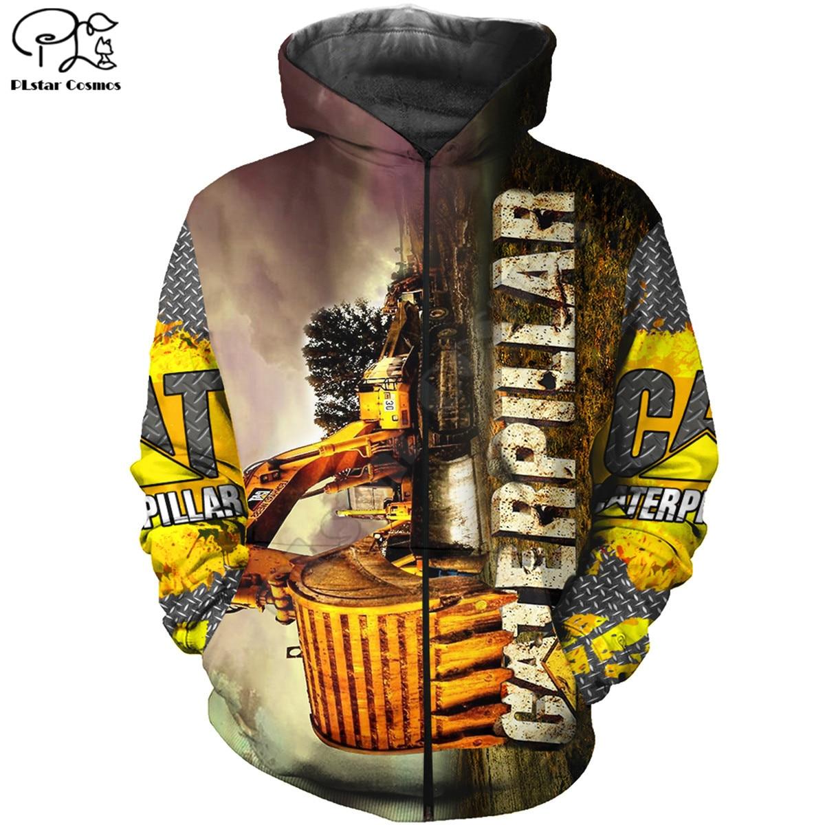 3d caterpillar heavy-equipment hoodies 3D printed Sweatshirt Hoodie Harajuku Autumn Streetwear women men Casual Tracksuit