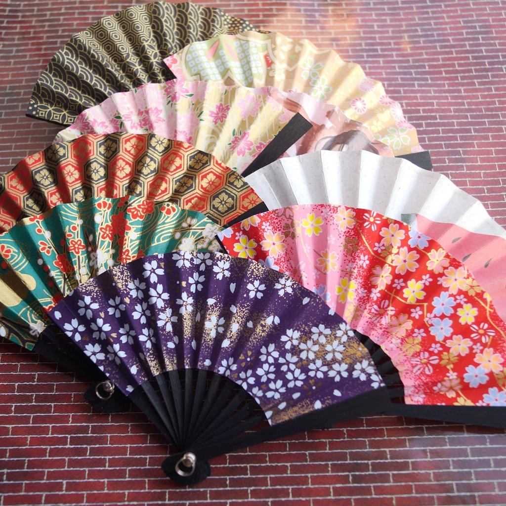 """Black Sakura Floding Fan Prop 8cm for 1//4 17/"""" BJD MSD dk doll volks Kimono Style"""