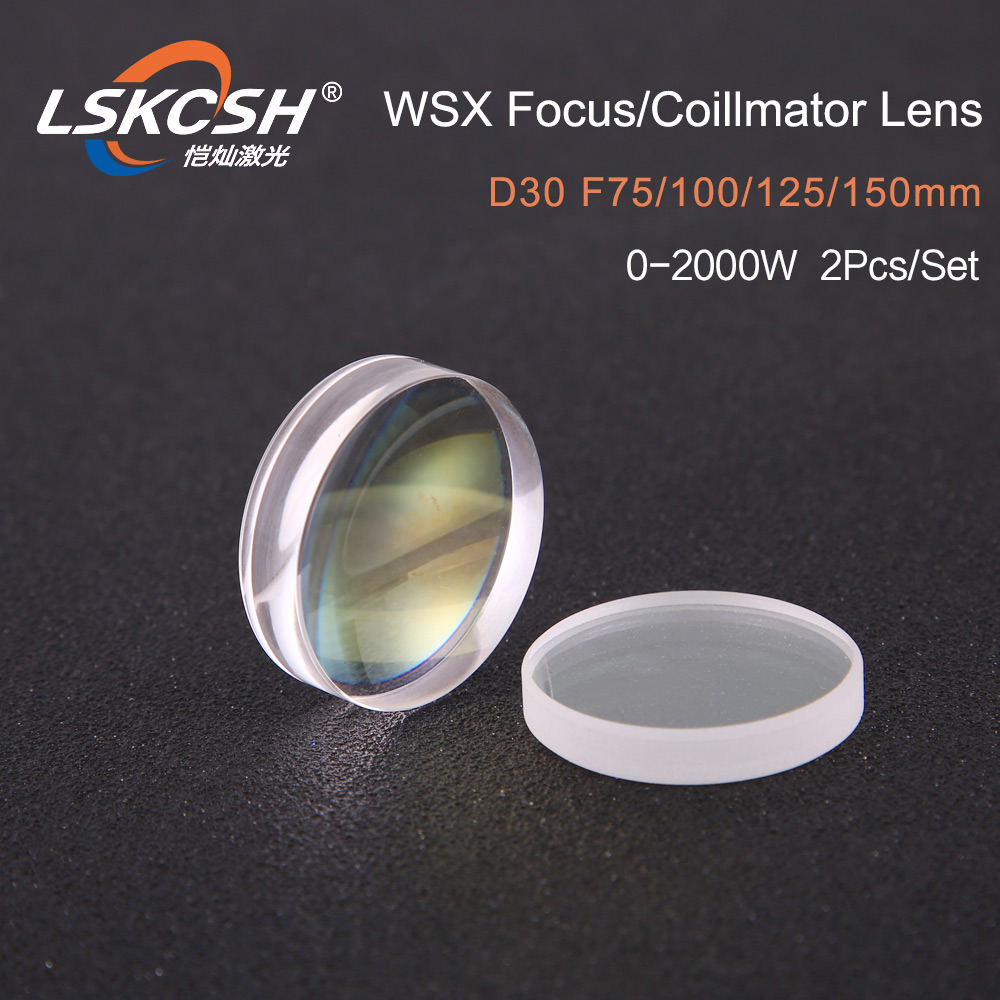 LSKCSH high quality fiber laser focusing lens/collimator lens D30 F75/100/125/150mm for WSX laser cutting head wholesale agents-in Lenses from Tools    1