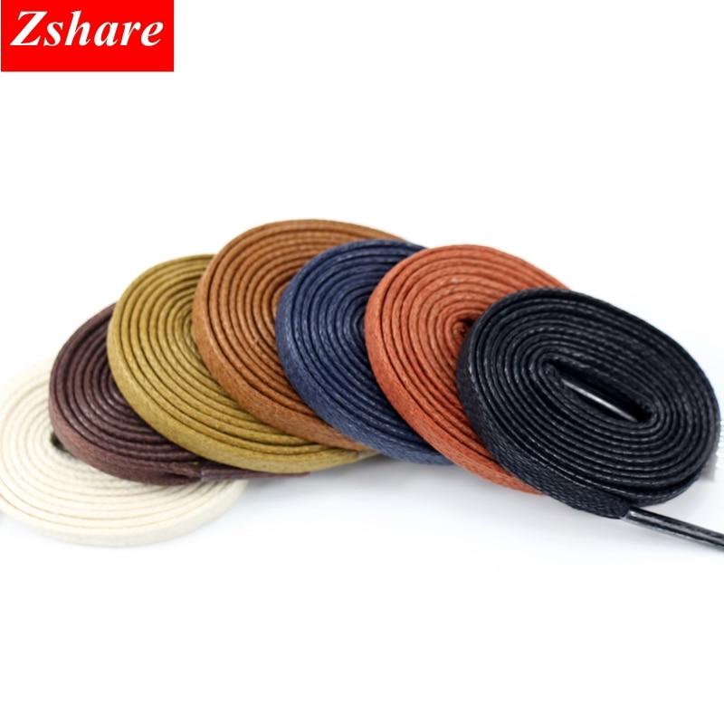1 Pair Waxed Shoelaces Flat Shoe Laces Boots Unisex Waterproof Leather Sneakers Shoelace Length 60 80 100 120 140 160 180CM P3