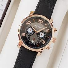 brand fashion classic quartz mens watch 2020 chronograph rubber belt date wristw