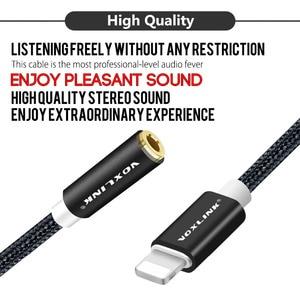 Image 2 - Mais novo aux cabo de áudio voxlink 8pin para 3.5mm aux fone de ouvido jack adaptador cabo para apple iphone x 8 plus 7/7 plus