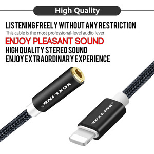 Image 2 - Newest aux audio cable VOXLINK 8pin to 3.5mm Aux Headphone Jack Adapter Cable For Apple iPhone X 8 8 PLUS 7 / 7 Plus