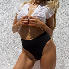 Yaz seksi bayan erkek mayoları tek parça Bikini şort kısa yüksek bel mayo Beachwear mayo erkek mayosu