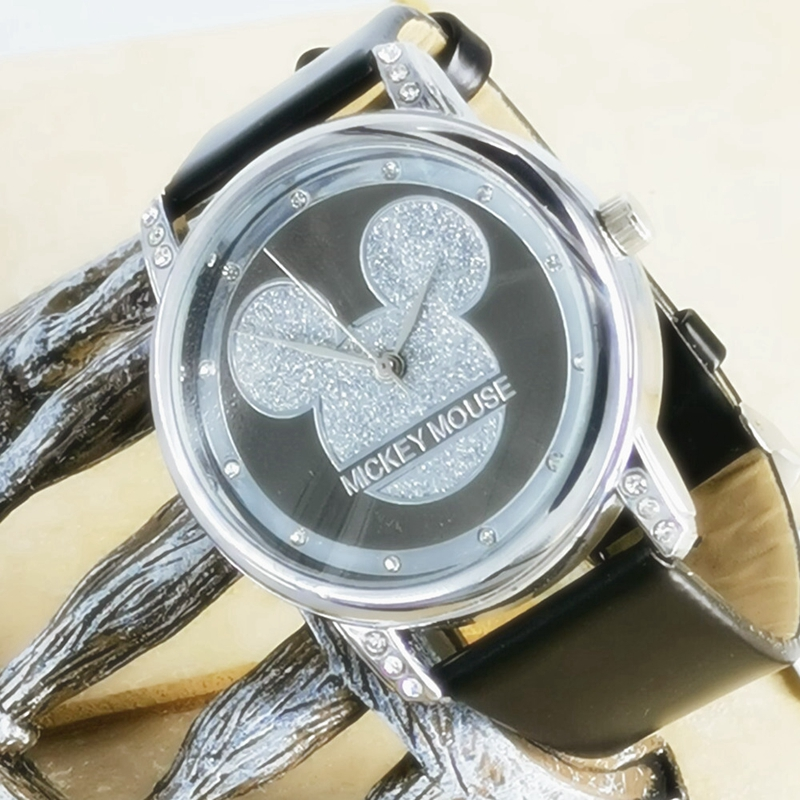 New Mickey Mouse Kids Watches Women Children Quartz Watch Fashion  Ladies Watch Female Student Watch Crystal Diamond Clock