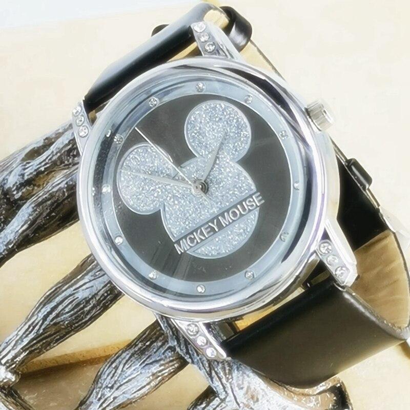 New Mickey Mouse Kids Watches Women Children Quartz Watch Fashion  Ladies Watch Female Student Watch Crystal Diamond Clock