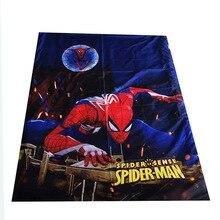 Disney Navy Blue Ultimate Spiderman Lightning Mc Queen Car Flatsheet for Baby Boys Girls Children Bed Cover 150x200cm Bedsheet