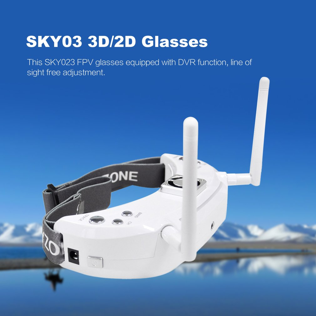 Skyzone SKY02S V+ 3D FPV Goggle/Video Glasses with 3D/2D Mode 48CH 5.8G Diversity Receiver Head Track/Camera for RC Quadcopter - 4