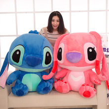 35-80cm Cute Cartoon Stitch Lilo & Plush Toy Doll Children Stuffed For Baby Birthday Christmas Kid Gifts