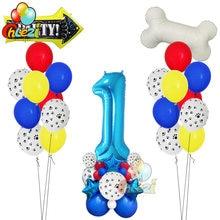 40 teile/los Hund Pfote Latex Ballons 40 Inch Anzahl Knochen Folie Helium Ballon Geburtstag Party Dekorationen Kinder Spielzeug Baby Dusche globos