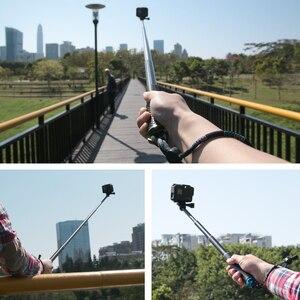 Image 5 - 36 Inch Aluminium Zelf Selfie Stick Handheld Uitschuifbare Pole Monopod Telefoon Houder Adapter Voor Go Pro Hero 9 8 7 6 5 4 3 + Xiaomi