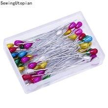 50 sztuk 55mm bardzo długi głowa perły Pin proste szpilki do szycia dla stanik krawiectwo kwiaciarnie szpilki do szycia z plastikowym pudełku