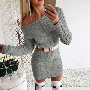 MONERFFI Sexy Bodycon Mini Sweater Dress Women 2019 Knitwear Autumn Casual Fashion Winter Black Yellow White Warm Knitted Dress